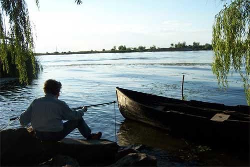 Recording the Danube in Romania - Photo by Ruth Anderson