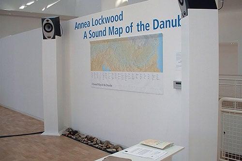 Detail of Danube installation at Stadthaus Gallery, Ulm, Germany - Photo by Sabine Presuhn