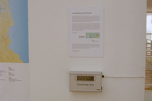 Danube installation time display - Photo by Sabine Presuhn